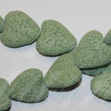jskalav-zalsv-sir-21x21x8 apie 21 x 21 x 8 mm, širdutės forma, žalsva spalva, lava, apie 20 vnt.