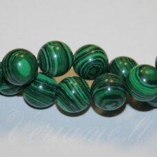 jskaml-apv-03 apie 3 mm, apvali forma, sintetinis malachitas, apie 125 vnt.