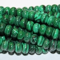 jskaml-ron-05x8 apie 5 x 8 mm, rondelės forma, malachitas, apie 80 vnt.