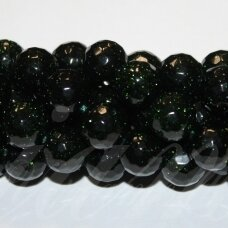 jskanls-apv-br-12 apie 12 mm, apvali forma, briaunuotas, nilo smaragdas, apie 32 vnt.