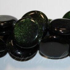 JSKANLS-DISK-14x3.5 apie 14 x 3.5 mm, disko forma, nilo smaragdas, apie 28 vnt.