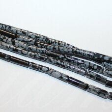 jskaob-cil-13x4 apie 13 x 4 mm, cilindro forma, obsidianas, apie 29 vnt.
