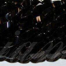 jskaon-pai-suk-4br-br-12x6 apie 12 x 6 mm, pailga forma, suktas, keturbriaunis, briaunuotas, oniksas, apie 32 vnt.