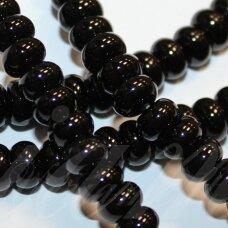 JSKAON-RON-03x6 apie 3 x 6 mm, rondelės forma, oniksas, apie 120 vnt.