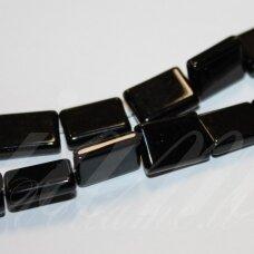JSKAON-STAC2-15x12x4 apie 15 x 12 x 4 mm, stačiakampio forma, oniksas, apie 25 vnt.