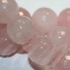 jskarz-apv-br1-10 apie 10 mm, apvali forma, briaunuotas, rožinis kvarcas, apie 38 vnt.
