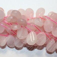 jskarz-las4-suk-13x18x7 apie 13 x 18 x 7 mm, lašo forma, rožinis kvarcas, apie 20 vnt.