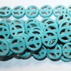 jskat-kit2-10 apie 10 mm, disko forma, turkis, apie 35 vnt.