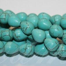 jskat-las2-10x8.5 apie 10 x 8.5 mm, lašo forma, turkis, apie 38 vnt.