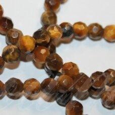 jskata-rud-apv-br1-04 apie 4 mm, apvali forma, briaunuotas, ruda tigro akis, apie 82 vnt.