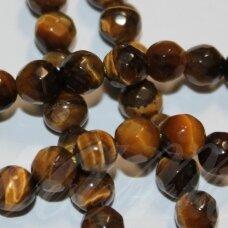 jskata-rud-apv-br1-08 apie 8 mm, apvali forma, briaunuotas, ruda tigro akis, apie 50 vnt.