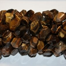 jskata-rud-net-10x15x10-18x20x13 apie 10 x 15 x 10 - 18 x 20 x 13 mm, netaisyklinga forma, daugiabriaunis, ruda spalva, tigro akis, apie 40 cm.