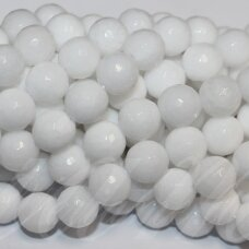 jskaza-balt-apv-br-10 apie 10 mm, apvali forma, briaunuotas, balta spalva, žadeitas, apie 39 vnt.
