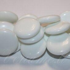 jskaza-balt-disk-25x7 apie 25 x 7 mm, disko forma, balta spalva, žadeitas, 16 vnt.