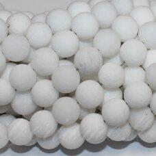 jskaza-balt-mat-apv-04 apie 4 mm, apvali forma, matinė, balta spalva, žadeitas, apie 98 vnt.