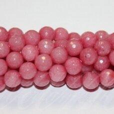 jskazy0034-apv-br-08 apie 8 mm, apvali forma, briaunuotas, šviesi, rožinė spalva, žadeitas, apie 48 vnt.