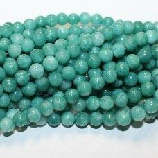 jskazy0072-apv-06 apie 6 mm, apvali forma, tamsi, žalia spalva, žadeitas, apie 62 vnt.