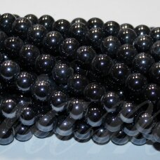 jsker0001-apv-08 about 8 mm, round shape, dark, hematite color, ceramic beads, about 40 pcs.