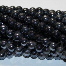 jsker0001-apv-10 (a35) apie 10 mm, apvali forma, tamsi, hematito spalva, keramikiniai karoliukai, apie 30 vnt.