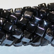 jsker0001-kub-10x10 about 10 x 10 mm, cube shape, dark, hematite color, ceramic beads, about 23 pcs.