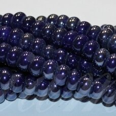 jsker0002-ron-05x8 about 5 x 8 mm, rondelle shape, dark, blue color, ceramic beads, about 60 pcs.