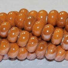 jsker0003-ron-05x8 about 5 x 8 mm, rondelle shape, orange color, ceramic beads, about 60 pcs.