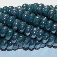 jsker0009-ron-05x10 (a27) apie 5 x 10 mm, rondelės forma, elektrinė spalva, keramikiniai karoliukai, apie 53 vnt.