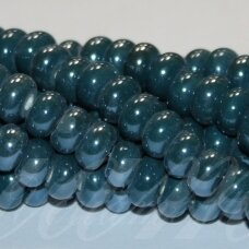 jsker0009-ron-05x8 (a27) apie 5 x 8 mm, rondelės forma, elektrinė spalva, keramikiniai karoliukai, apie 60 vnt.