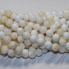 jskrm-balt-gelt-apv-10 apie 10 mm, apvali forma, balta spalva, geltona spalva, kriauklių masė, apie 39 vnt.