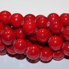 JSMARM0006-APV-10 apie 10 mm, apvali forma, margas, raudona spalva, apie 38 vnt.