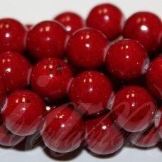 jsmarm0033-apv-10 (x-25) apie 10 mm, apvali forma, tamsi, raudona spalva, apie 38 vnt.