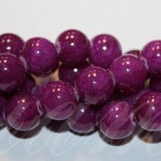 JSMARM0111-APV-12 apie 12 mm, apvali forma, violetinė spalva, apie 34 vnt.