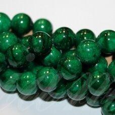 JSMARM0114-APV-10 apie 10 mm, apvali forma, žalia spalva, apie 40 vnt.