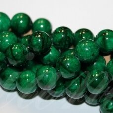 JSMARM0114-APV-12 apie 12 mm, apvali forma, žalia spalva, apie 34 vnt.