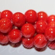 jsmarm0120-apv-06 (x-20) apie 6 mm, apvali forma, raudona spalva, apie 69 vnt.