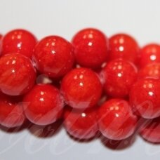 jsmarm0120-apv-12 (x-20) apie 12 mm, apvali forma, raudona spalva, apie 34 vnt.