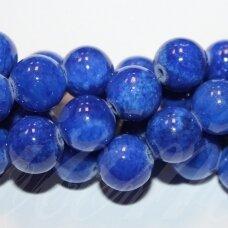 jsmarm0122-apv-12 (y-22) apie 12 mm, apvali forma, tamsi, mėlyna spalva, apie 34 vnt.