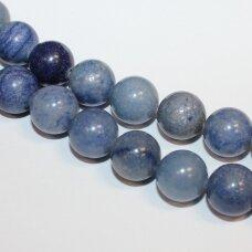 jsmav-apv-06 apie 6 mm, apvali forma, mėlynas avantiurinas, apie 62 vnt.