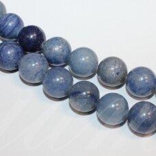 jsmav-apv-10 apie 10 mm, apvali forma, mėlynas avantiurinas, apie 38 vnt.