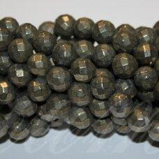 jspir-apv-br-08 apie 8 mm, apvali forma, briaunuotas, piritas, apie 48 vnt.