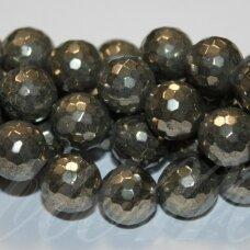 JSPIR-APV-BR1-12 apie 12 mm, apvali forma, briaunuotas, piritas, apie 32 vnt.