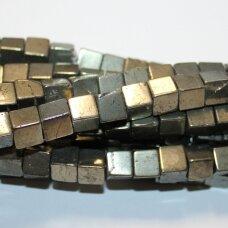 jspir-kub-06x6 apie 6 x 6 mm, kubo forma, piritas, apie 60 vnt.