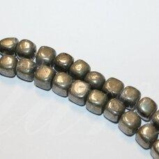 JSPIR-NET4-8x8 apie 8 x 8 mm, netaisyklinga forma, piritas, apie 38 cm.