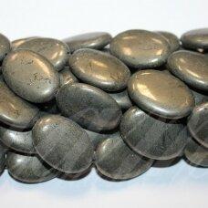 JSPIR-OVAL-25x18x6 apie 25 x 18 x 6 mm, ovalo forma, piritas, apie 16 vnt.