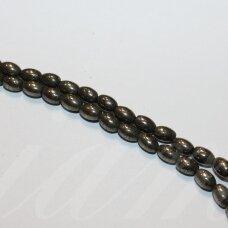 jspir-pai-06x4 apie 6 x 4 mm, pailga forma, piritas, apie 62 vnt.