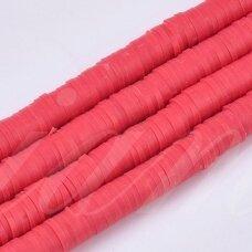 jspmb0030-ron-1x3 apie 1 x 3 mm, skylė 1mm, rondelės forma, raudona spalva, apie 380-400 vnt.