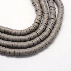 jspmb0041-ron-1x3 apie 1 x 3 mm, skylė 1mm, rondelės forma, tamsi pilka spalva, apie 380-400 vnt.