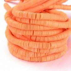 jspmb0011-ron-1x6 apie 1 x 6 mm, skylė 2mm, rondelės forma, oranžinė spalva, apie 380-400 vnt.