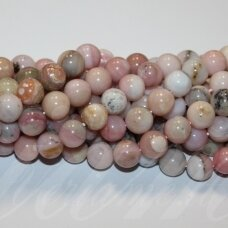 jsrozop-apv-10 apie 10 mm, apvali forma, rožinis opalas, apie 38 vnt.