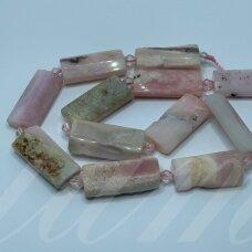jsrozop-pai-27x13x7 apie 27 x 13 x 7 mm, rožinis opalas, 12 vnt.